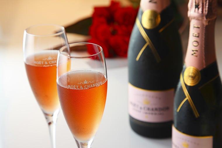 Le champagne rose