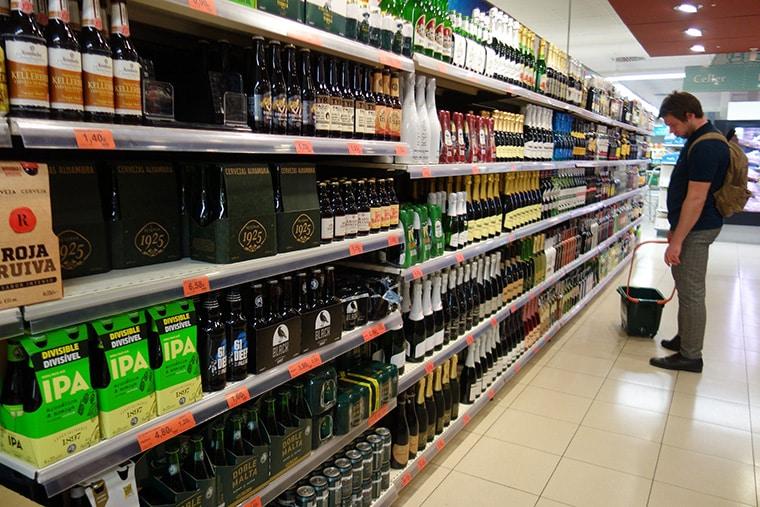 Champagne en supermarché